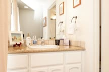 Master bedroom sink/vanity make up table.