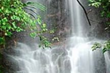 This is one of the waterfalls at Curug Cilember 7 tier waterfalls, 10 mins walk from villa hakim 4