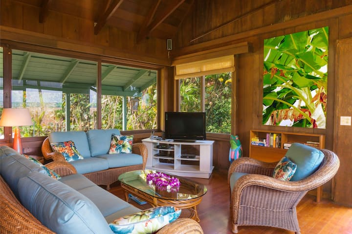 3 bedroom Ocean view home on Kauai's Northshore, near Tunnels and Lumahai - Wainiha Beach Hale
