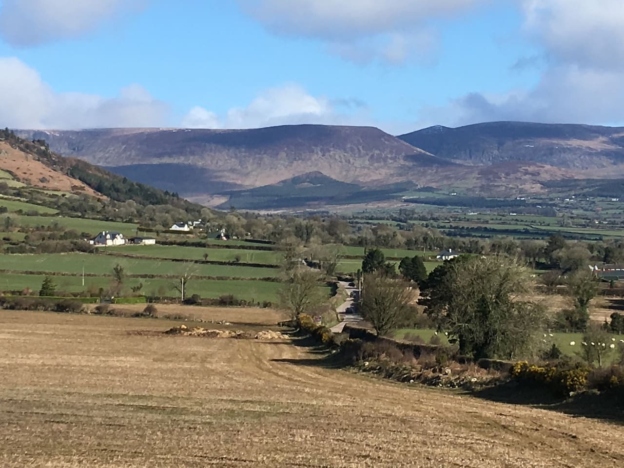 View of Comeragh Mountains