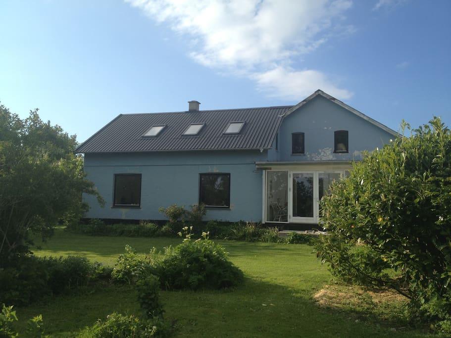 House as seen from garden