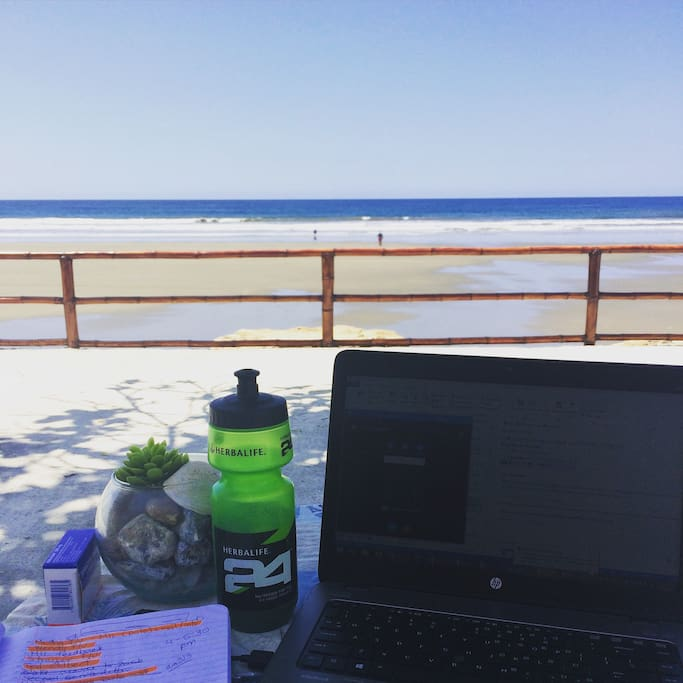 Work from home with internet access and an amazing view.