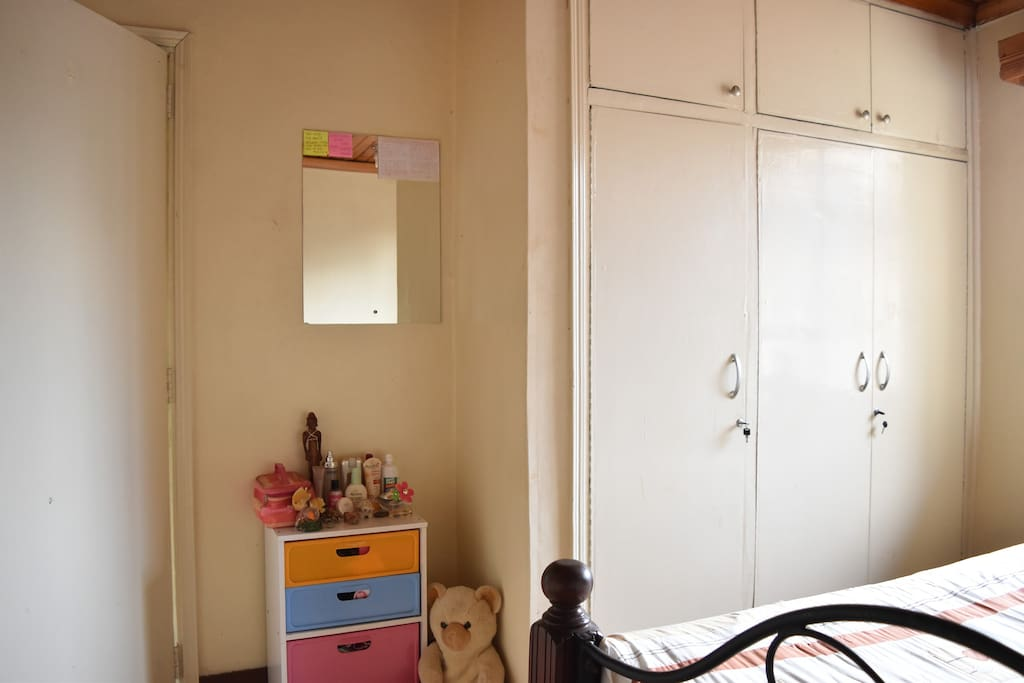 Colorful little cupboards & closets
