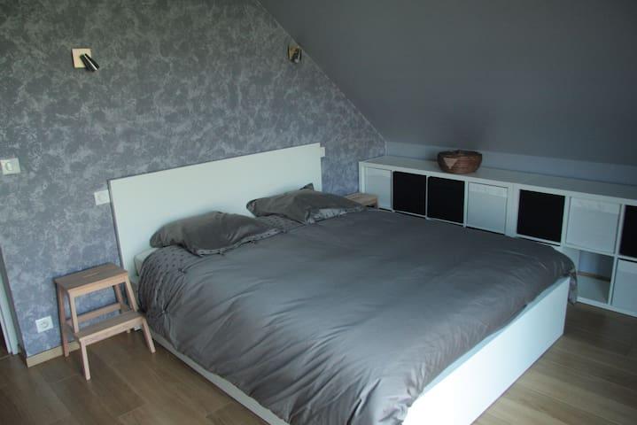 Chambre spacieuse dans une grande maison au calme - La Neuville-Chant-d'Oisel - Hus