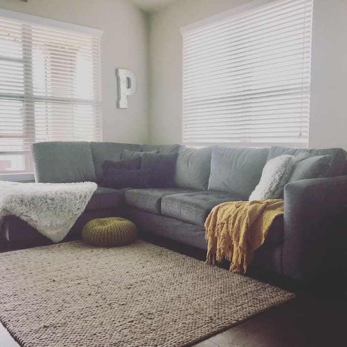 Common Space. Couch sleeps two. Air mattress for your use as well.