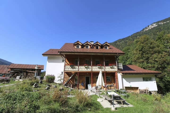 Centre Thermal Riversong, (Les Plans-sur-Bex), 3.2 Quadruple room with balcony, bathroom on the floor