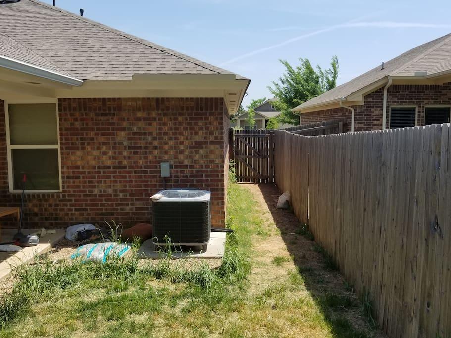 Backyard entry.