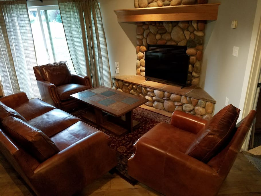 Plenty of seating in the living room to sit back, relax and hang out with friends and family
