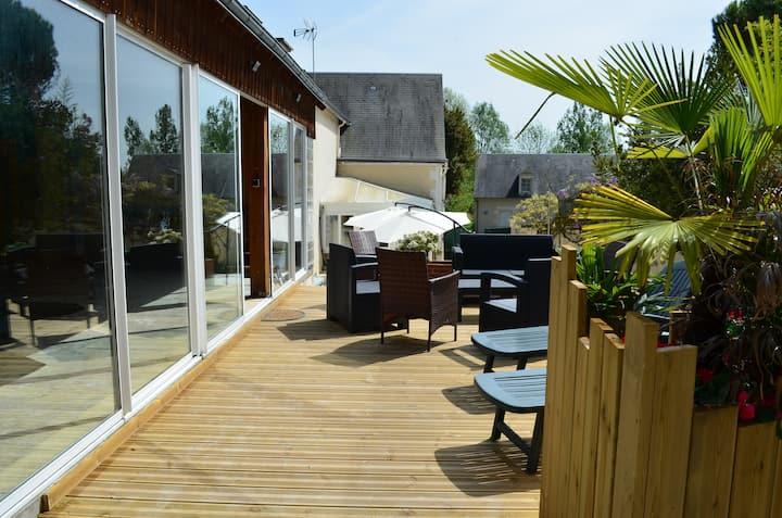 Gite de La Merluchette avec piscine couverte 4*