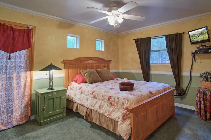 Downstairs Guest Room with attached bathroom