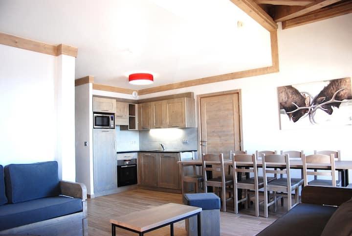 Appartement 8-10p, 106m², aux pieds des pistes