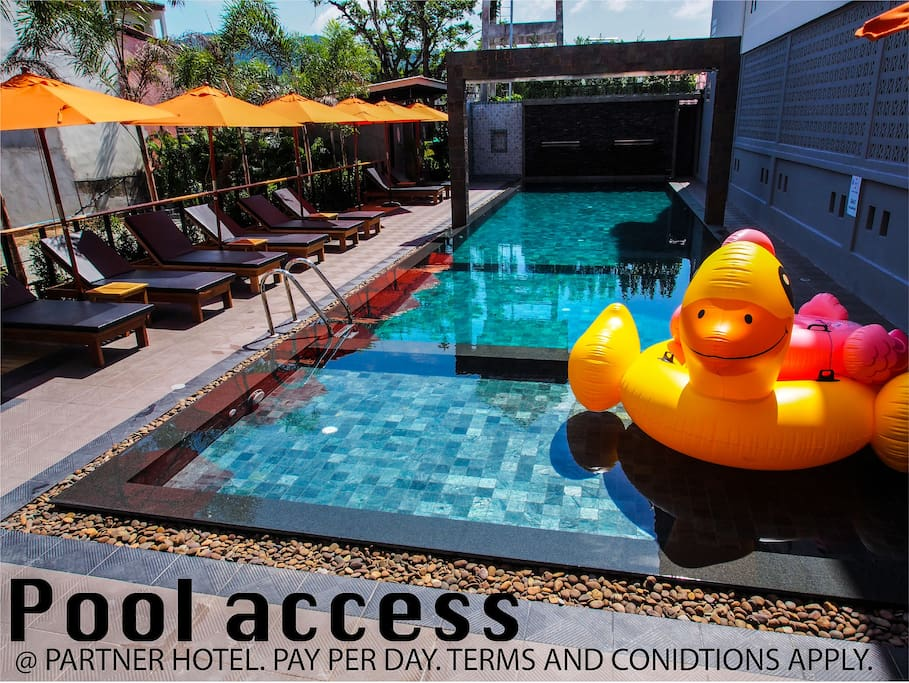 Pool access available at our partner Hotel. Pay per day. Terms and conditions apply. 50 meters from our place.