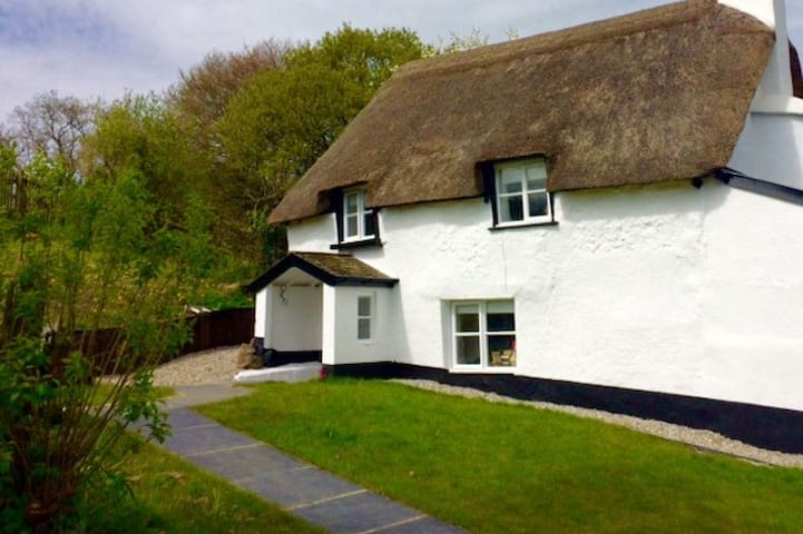 17th Century Thatched Cottage on Dartmoor - Bridford - Hus