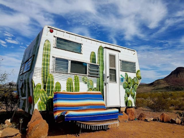 "Tin Valley Retro Rentals ""Cozy Cactus"" - Terlingua - Husbil/husvagn"