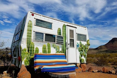"Tin Valley Retro Rentals ""Cozy Cactus"" - Terlingua"