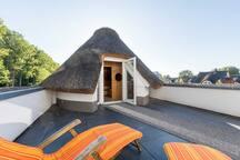 Dachterrasse mit Sauna