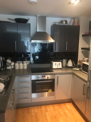 Kitchen area for breakfast and basic meals.