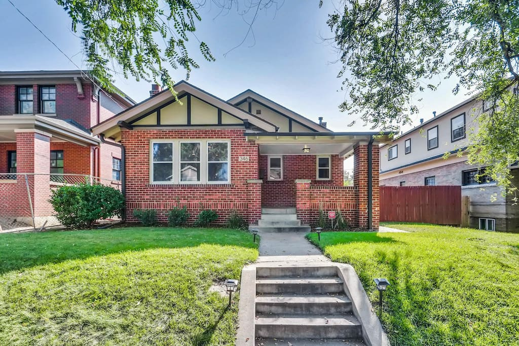 Walk up the steps to your very own private Wash Park bungalow