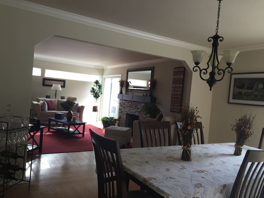 Adjoining Dining and Living Room with access to the Kitchen!