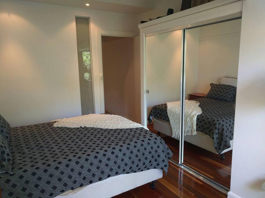 Master bedroom looking back inside.