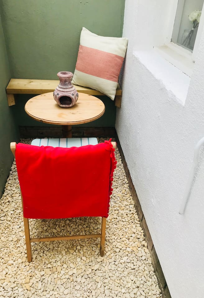 Guests' outside space for a drink
