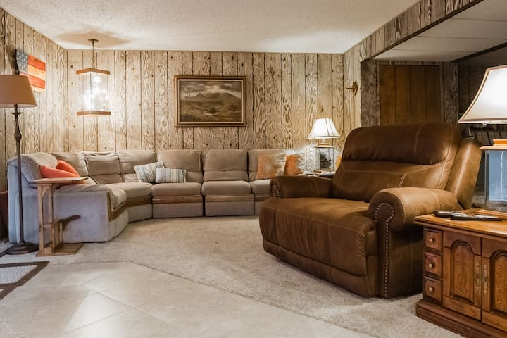 Common area living room, shared with other guests.