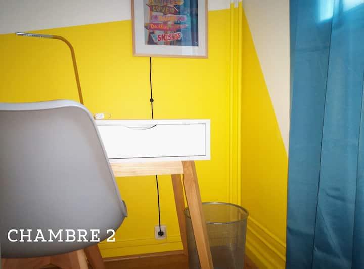 Chambre 2 - Colocation courte durée