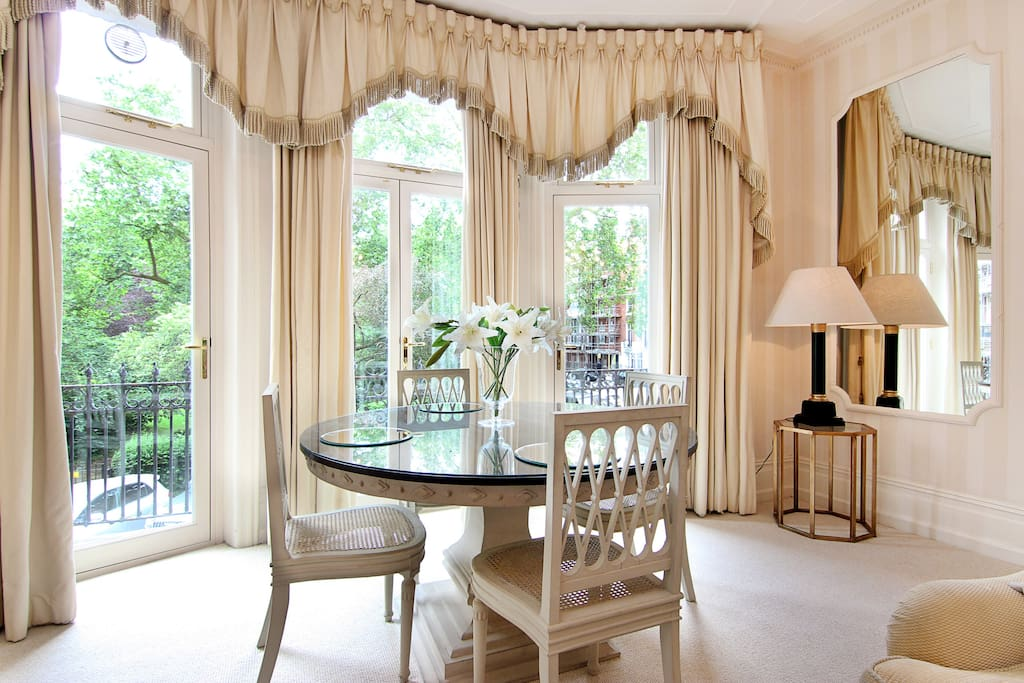 The stunning view from this elegant, large and bright Studio apartment