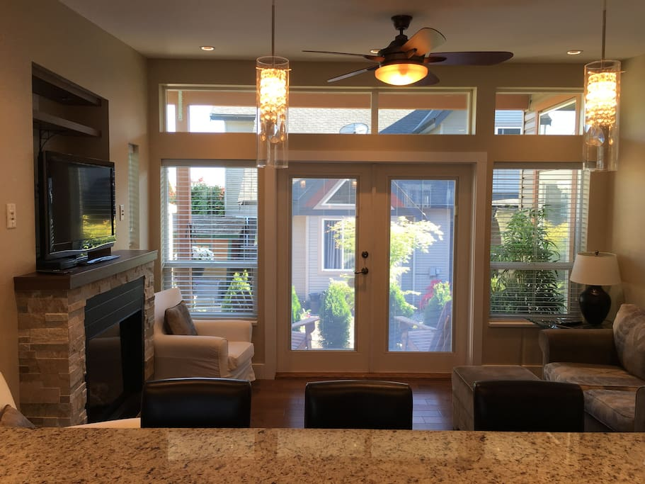 FRENCH DOORS FROM LIVING ROOM