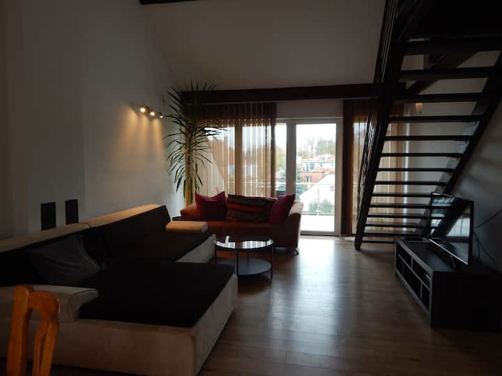 New attic apartment at city center of Piestany