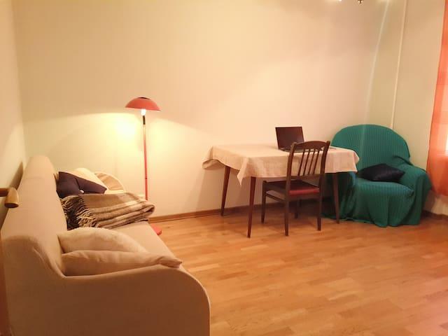 Удобная. Большая комната.У МЕТРО и ПАРКОВ - Moskva - Apartamento