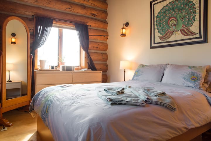Log Home with Private Guest Suite