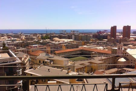 lovely view of the city n' sea  in a flat in Genoa - Genova