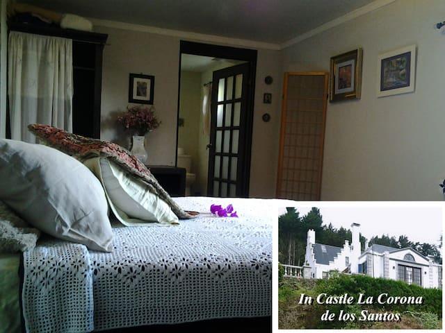 Sapphire Room at Castle La Corona - Santa Cruz de Leon Cortes