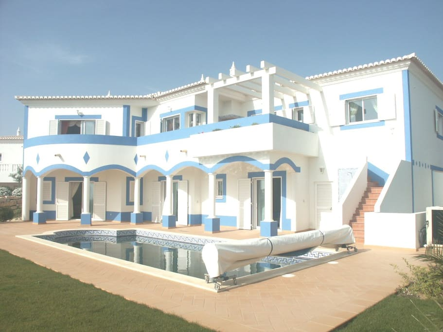 Rear of the Villa and Pool and Garden area.