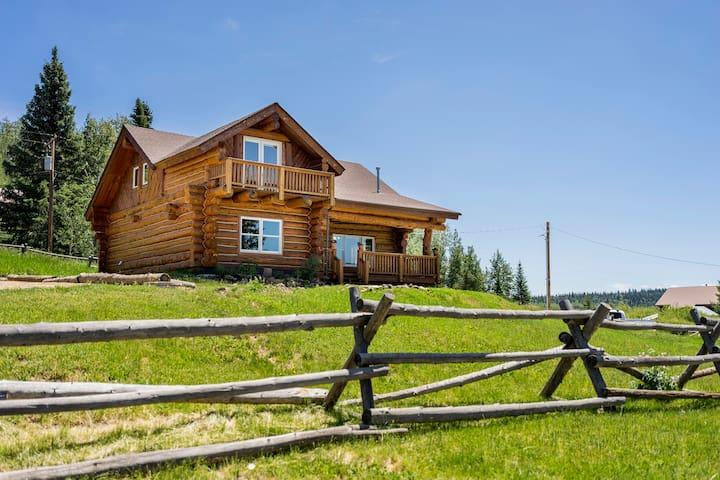 Romantic Custom Log home with spectacular views.