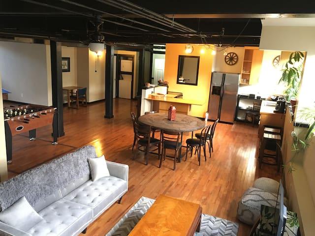 Huge designer apartments in historic mill building