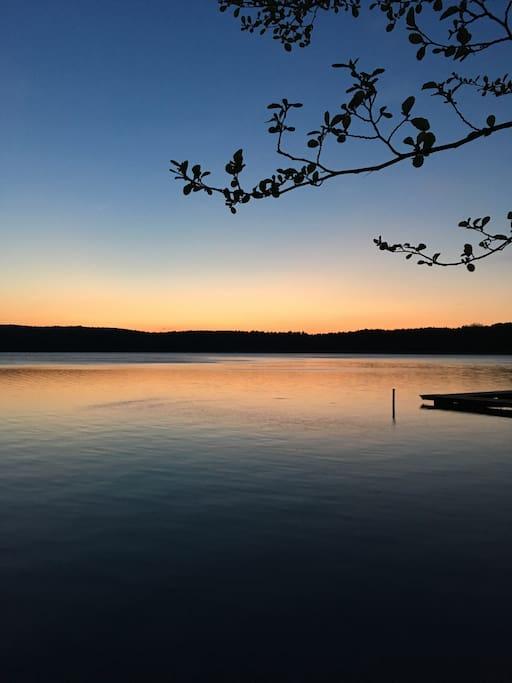 Abendstimmung am Glubigsee
