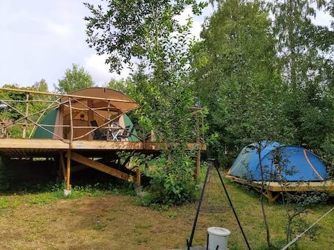'Glamping' tent in beautiful Dalarna.