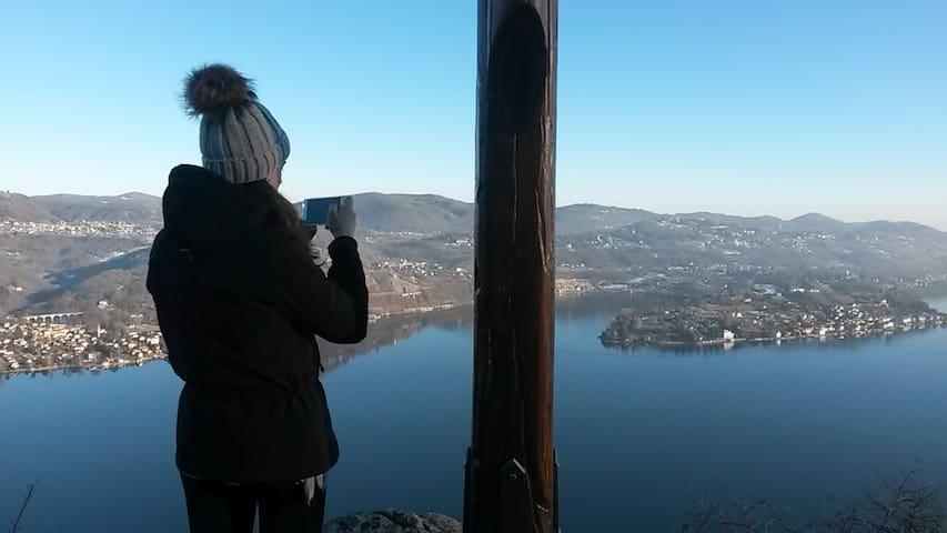 Cesara - il Lago d'Orta dalla Croce di Egro