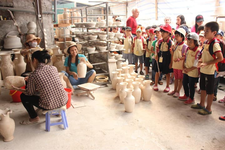 Bat Trang Pottery Village