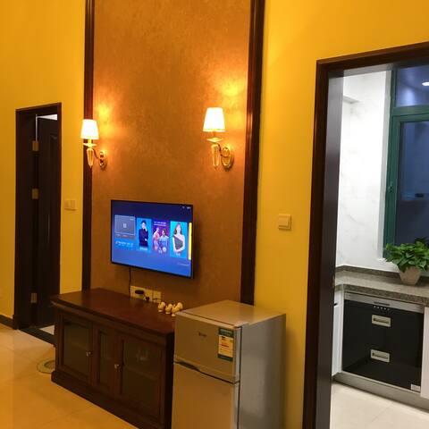 恒大50平米小公寓,装修精致,有家的温馨。电话(PHONE NUMBER HIDDEN) - 启东
