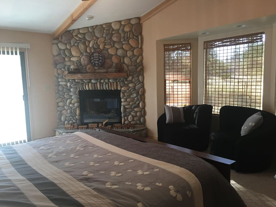 Relax in the sitting area with views of the Sierra Foothills and sounds of the river
