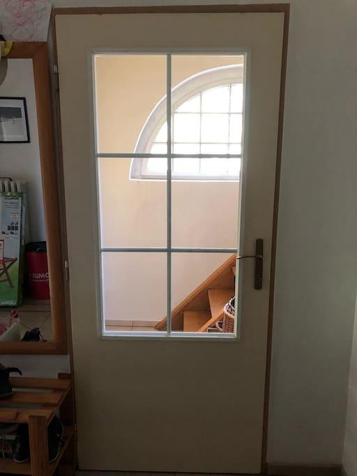 Door one floor under the apartment