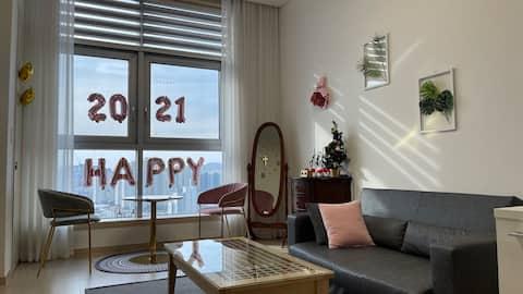 #방역숙소#소독제비치#대구 반월당 복층하우스(duplex) / 도심속의 휴식, 힐링스테이