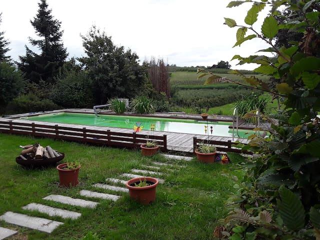 Familien- Ferienwohnung mit Kamin und Whirlpool