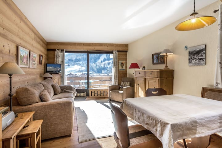 CRYS19 - Downtown, slopes and shops nearby, garage, elevator - LA CLUSAZ - Flat