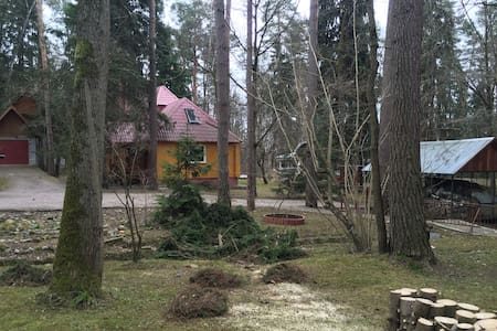 Wooden house (24 km from Moscow, 32 min to metro).