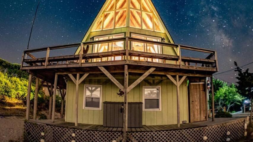 Davis Park, Fire Island:  A-Frame, Best Location!