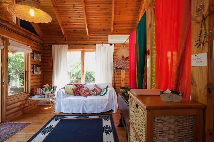 A quaint wooden cabin